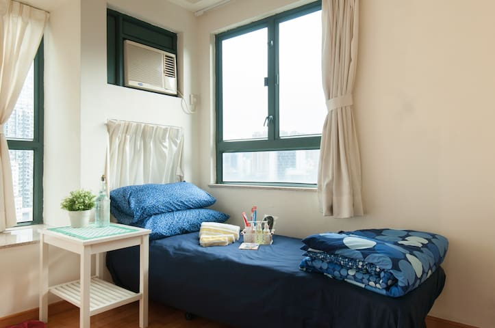 Comfortable Wan Chai room ideal for solo travelers - Hong Kong - Condominium