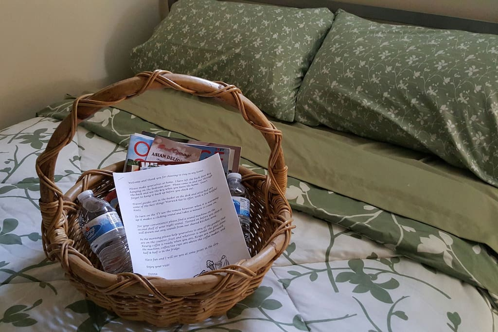 Basket of local maps and list of things to do