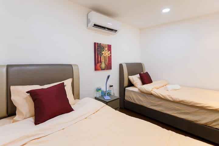 2 super single bed