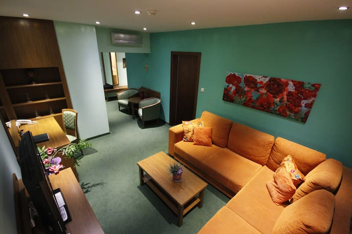 Cozy hotel apartment with balcony, free parking - Bratislava