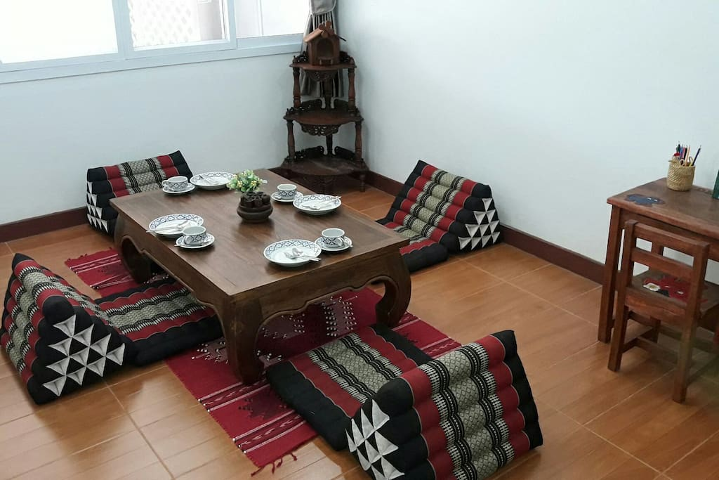 Dinning room is Northern Thai style.