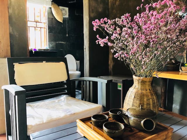 Cozy vintage style furniture