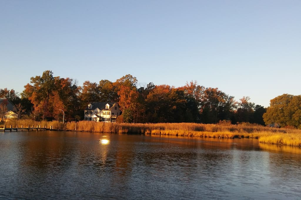 Morning light on Oyster Creek as seen from community dock, one house over.