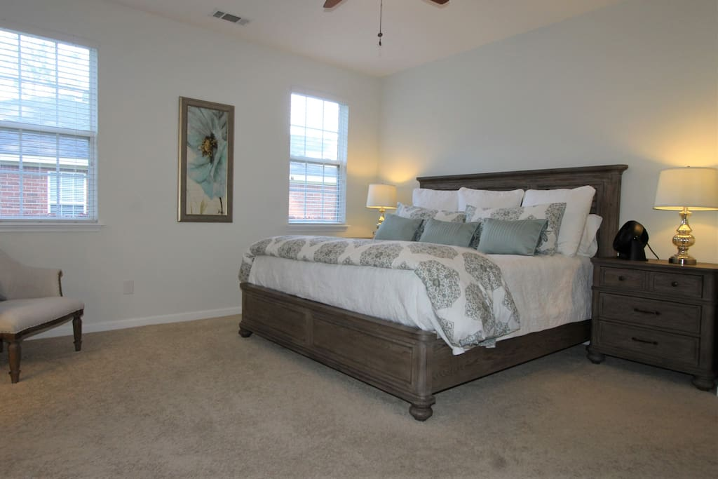 Spacious 1st floor master bedroom with King bed