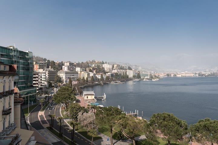 Elegante appartamento con magnifica vista sul lago - Paradiso - Apartamento