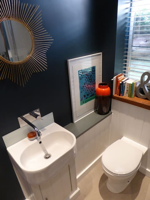 Beautifully furnished modern en-suite shower room and toilet.
