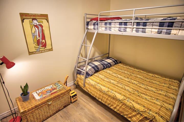 Bedroom 3 in the basement