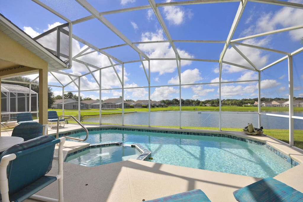 The best pool view in Hampton Lakes - no staring at a wall or other home here!