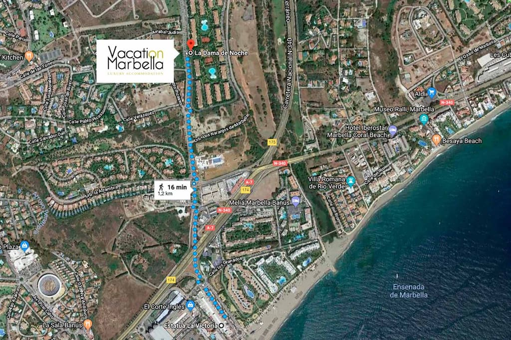 Distance from the flat to Puerto Banus