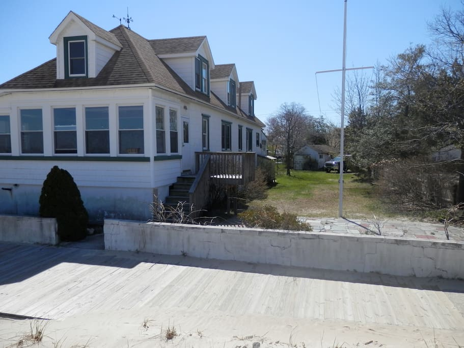 house is directly on 1 mile long boardwalk, beachfront