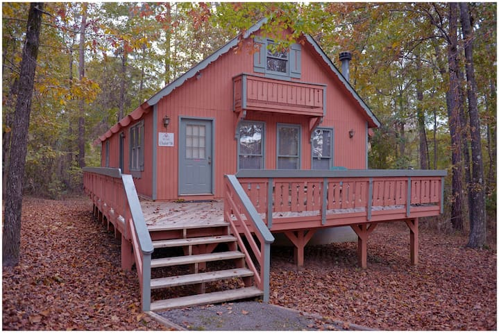 Private cabin with lots of amenities to include, fishing in our 12 acre lake, swimming pool, pool table and much more.