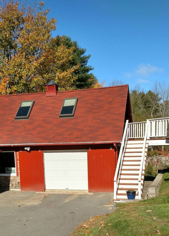 Apartment is located above the garage with private entrance accessable by stairs.