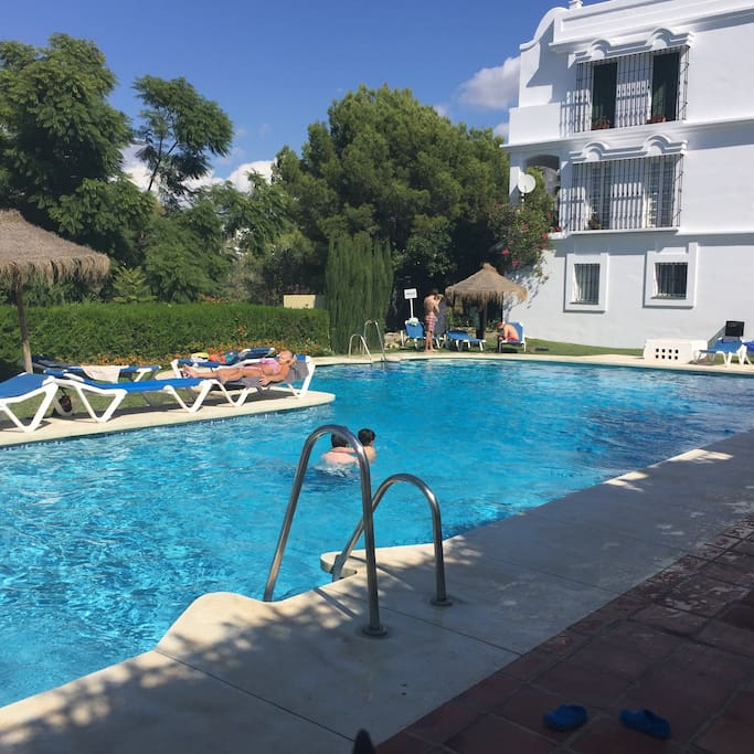 The pool is only 50 metres away from the villa and is a secluded location for swimming and sun-bathing