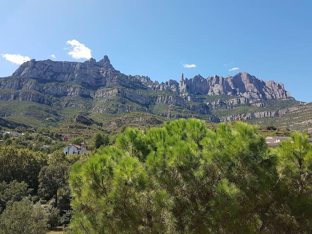 Espectaculares vistas a Montserrat desde Monistrol
