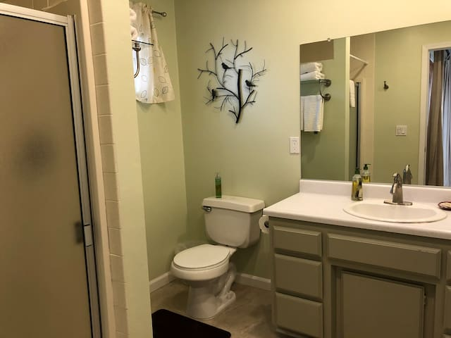 Private bathroom attached to Bedroom 1
