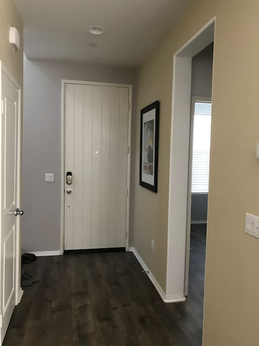 Entryway with room on the right