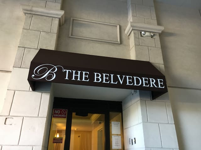 Welcome to the Belvedere! Amenities  Galore! Hot tub, pool, pool tables, community room, gym, free books, secure parking, nespresso coffee and more!