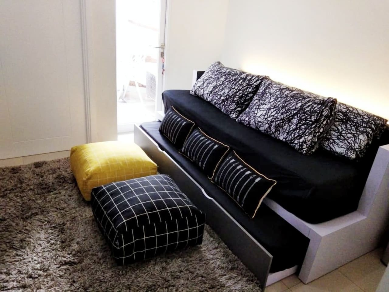 2 ( two ) single bed in the living room