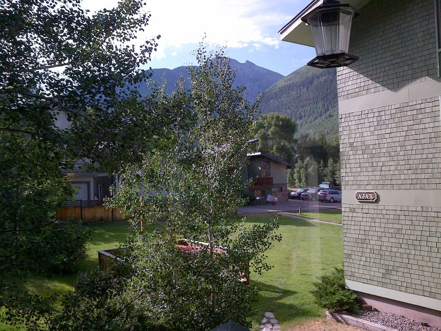 Summer mountain views from deck