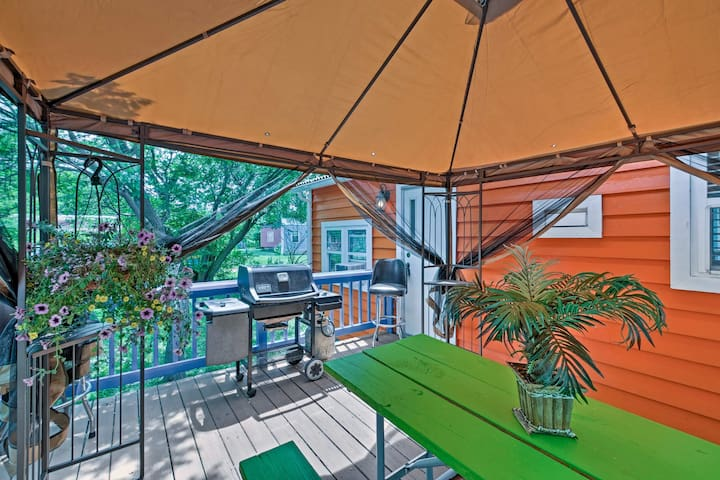 Host a barbeque on the private deck.