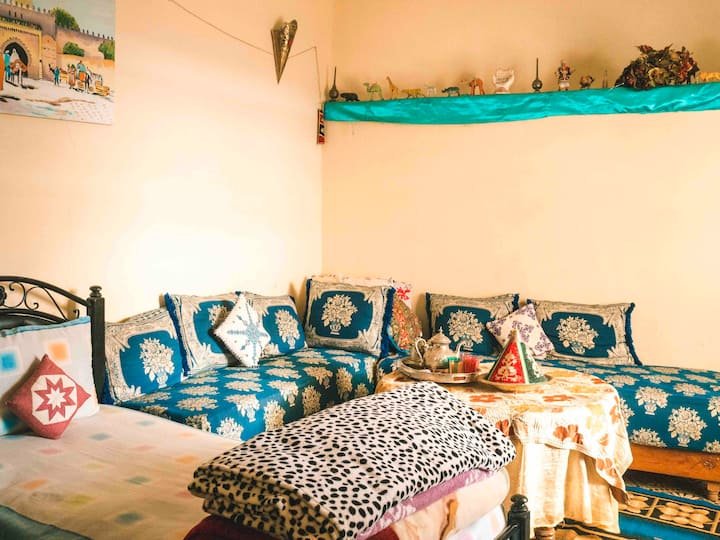 Terrace room in an authentic house