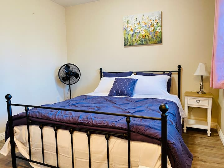 #108 Private bedroom with shared bathroom.