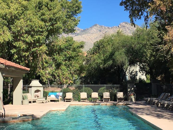 Ventana Canyon 2 BR/2BA + Office Heated Pool & Gym