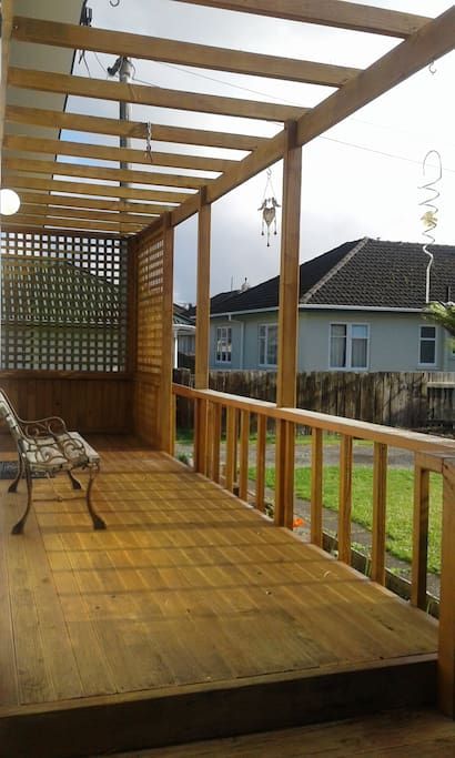 sunny deck for relaxing out