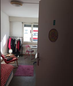 Sunny, cozy room, well connected with the city! - Bazel - Appartement