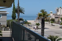 Down the steps to Carpinteria State Beach.  NOTE: This is not the view from the apartment (see living room photo). This is from the end of the hallway.