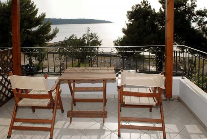 Cozy Studio + Balcony + Amazing Sea View +Wi-Fi Milina Pelion