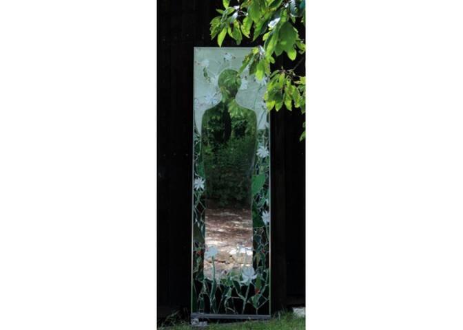 Spiegel im Garten, mirror in the garden