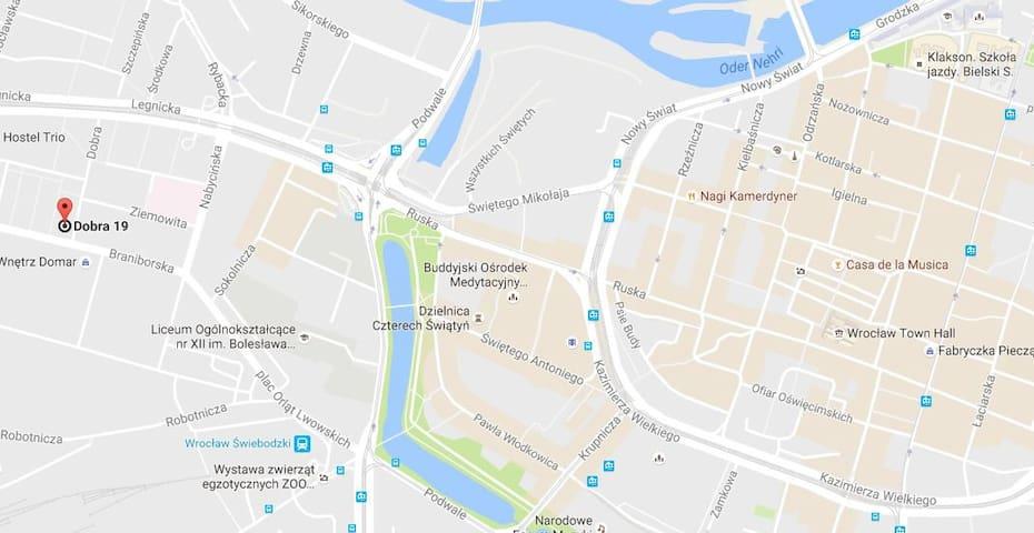 2 rooms apartment very close to city center/rynek - Wrocław - Huoneisto
