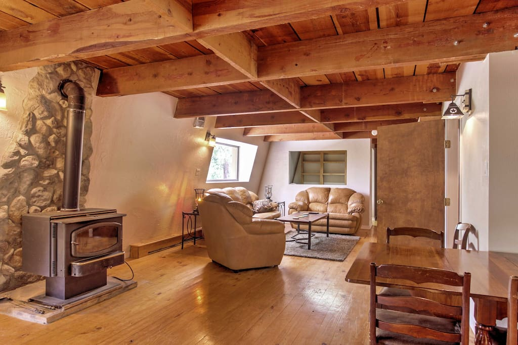 The spacious home boasts 2,100 square feet of rustic living space and offers accommodations for 8.