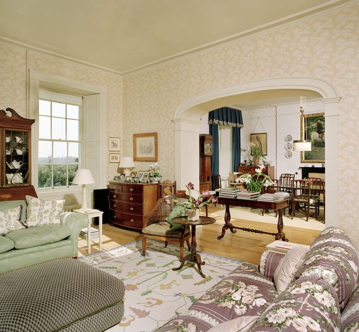 Relax in the drawing room with tea