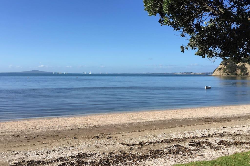 Approx 100m from the door - Matakatia Beach