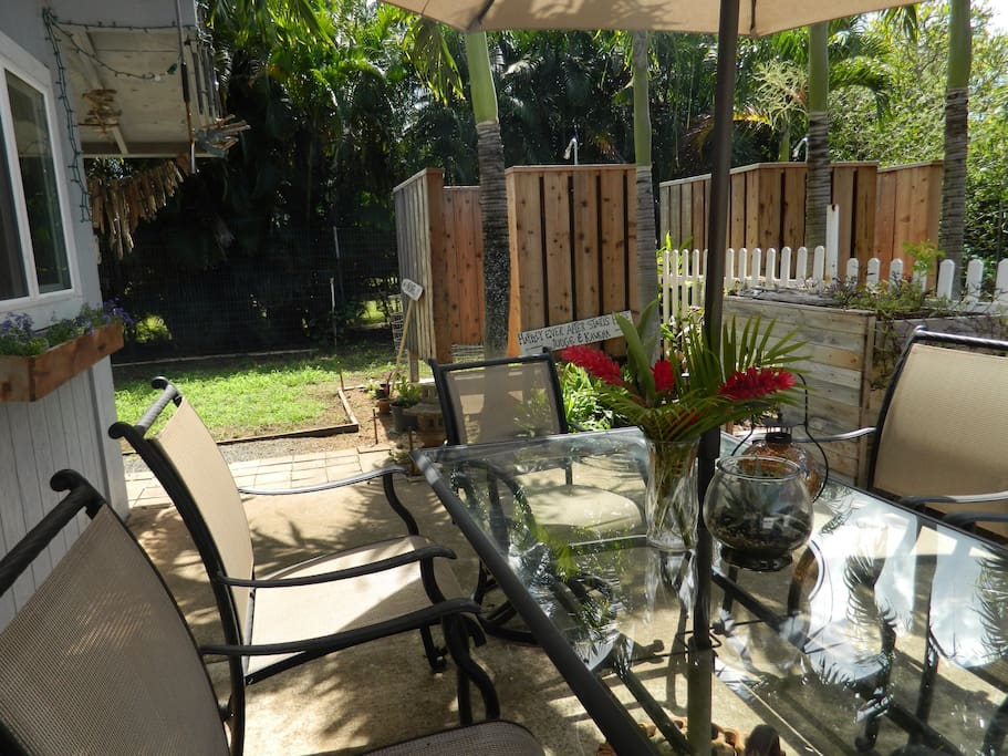lanai and outdoor shower