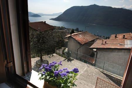 Flat on the hill facing Iseo Lake - Sale Marasino - 公寓