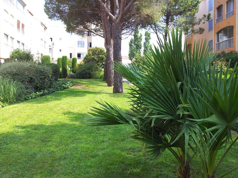 Jardins dans la résidence