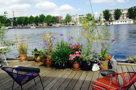 lovely and homy HouseBoat in de river Amstel. - Amsterdam - Vaixell