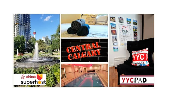 ⭐YYCPAD⭐ DT [Beltline] w/ Pool/Gym/Sauna/Parking