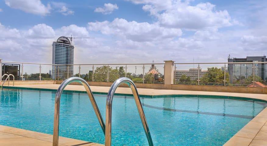 Westlands NBO Luxury Serviced 2BR/2Bath Apt w Pool - Nairobi - Serviced apartment