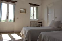 Rome countryside: room in historical farmhouse
