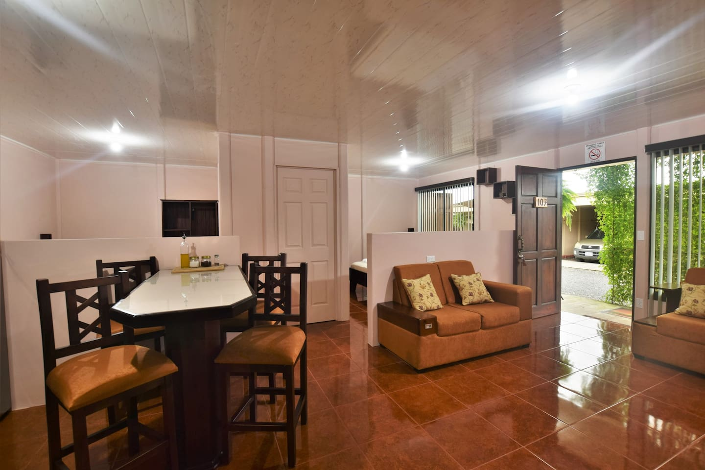 Three bedroomed apartment with all the facilities for up to 6 people