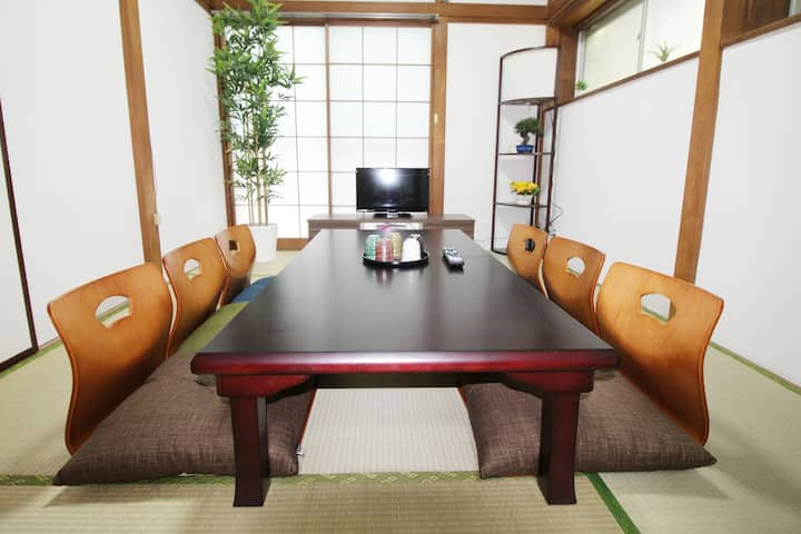 Shinjuku Sta. 6 min by train!3 bedrooms/10 ppl OK