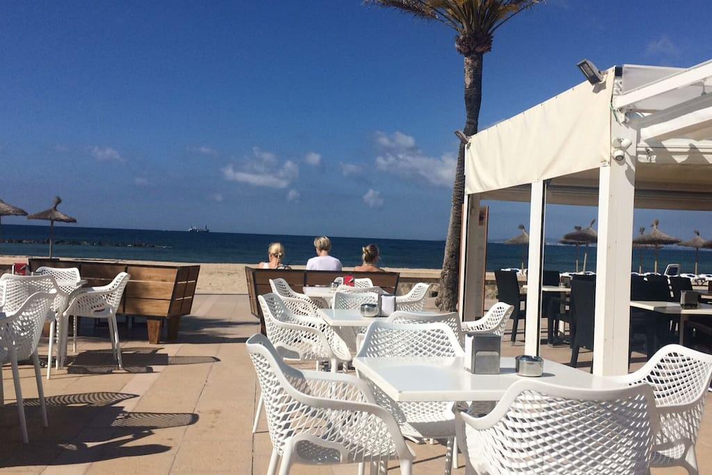 Promenade with bars in C´an Pastilla