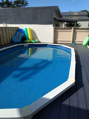 Our home pool for shared use during daylight hours in summer, by invitation