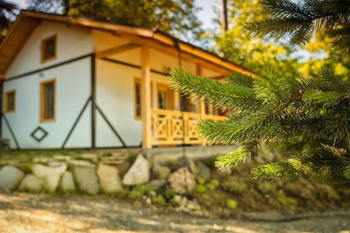 Cosama Village se afla intr-un parc  dendrologic.