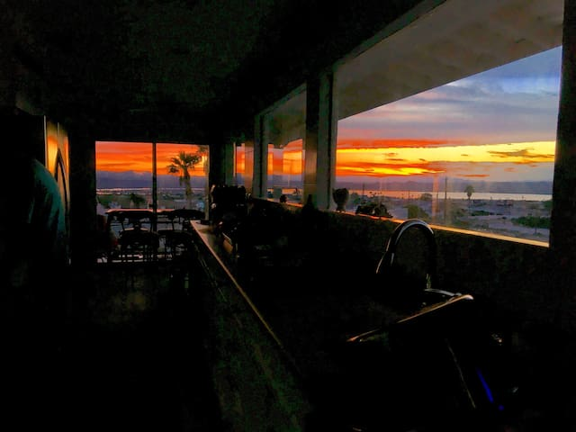 ACTUAL VIEWS FROM THE COUCH, KITCHEN, OR YOUR BED! PANORAMIC VIEWS MOST EVERY WINDOW!!  These are the kitchen views.  Hook wine and sinker!! Island time....