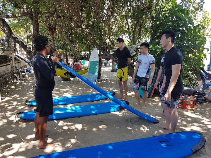 Theoretical introduction on how to surf